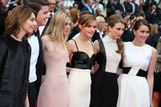 Claire Julien, Taissa Farmiga, Katie Chang, Israel Broussard, Emma Watson and director Sofia Coppola attend the movie premiere of 'The Bling Ring', in competition for 'Un Certain Regard' during 66th Cannes Film Festival 2013 at the Croisette Avenue in Cannes.