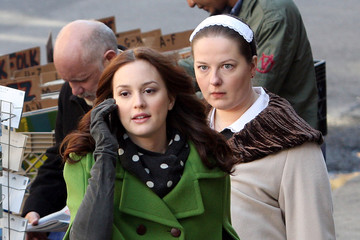 "Blair Waldorf Leighton Meester Films ""Gossip Girl"" in Brooklyn"