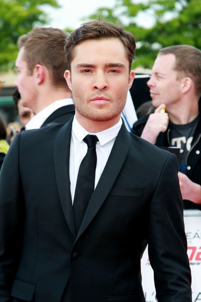 Ed Westwick  on the red carpet at the National Movie Awards held at Wembley Arena in London.