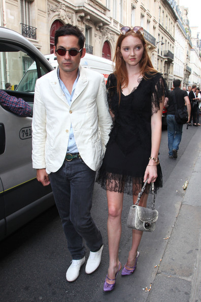 Lily Cole and Enrique Murciano at a Dior Fashion Show