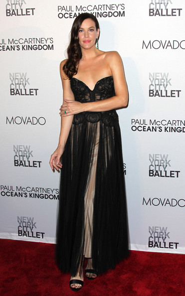 Liv Tyler Liv Tyler enjoys a glamorous evening out at the New York City Ballet opening night gala of 'Ocean's Kingdom' at the David Koch Theatre at the Lincoln Center. Paul McCartney composed part of the music working alongside choreographer Peter Martins.
