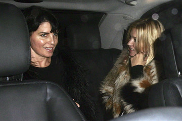 Kate Moss Sadie Frost Celebs in Leicester Square During LFW