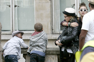 """Rocco Ritchie Madonna On the Set of """"W.E."""" 3"""
