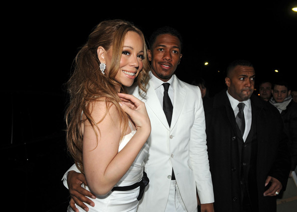 Mariah Carey Mariah Carey and husband Nick Cannon dine at Le Jules Verne restaurant at the Eiffel Tower after renewing their wedding vows in Paris. The pair dressed up in matching white formal wear and looked very much in love as they left the romantic restaurant. Cannon recently suffered a health scare, but he appeared to be doing better as he guided his sparkling wife on their romantic eve on the town.