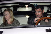 """Melissa Joan Hart heads home with Maksim Chmerkovskiy after a night out at Ivan Kane's Cafe with the """"Dancing with the Stars"""" gang."""