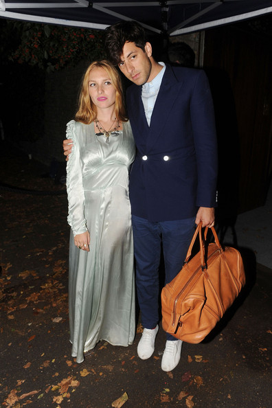 Mark Ronson and wife Josephine de la Blume leave the wedding reception of Paul McCartney and Nancy Shevell which was held at their house in St Johns Wood, London, after the wedding at the same venue where he married his first wife Linda 42 years ago.