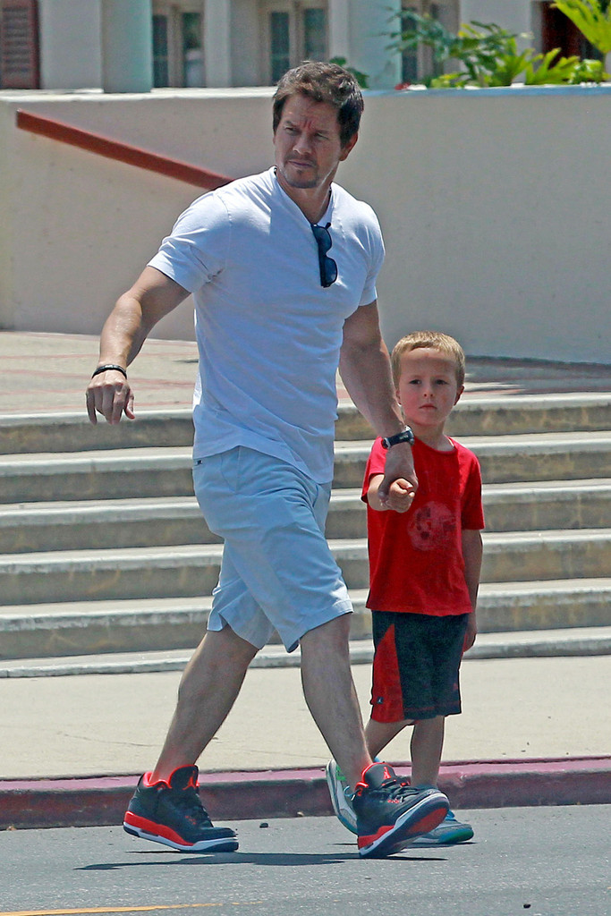 mark wahlberg and his son leave church zimbio