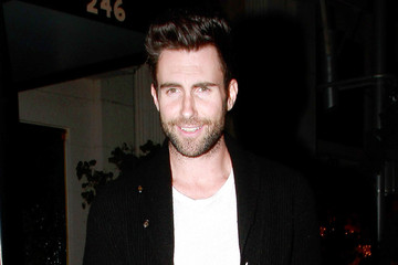 Adam Levine Anne V Adam Levine and Anne V at Mastro's Steakhous