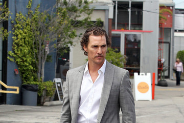 Levi Alves McConaughey Matthew McConaughey and Family Leave Church
