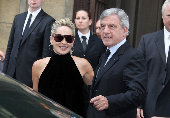 edd1d7778559 Celebs at Paris Fashion Week. Celebs at Paris Fashion Week. In This Photo  Sharon  Stone. Sharon Stone.attends the Christian Dior s ...