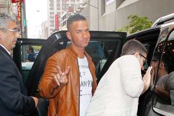 "Michael ""The Situation"" Sorrentino Ronnie Ortiz-Magro, Samantha 'Sweetheart' Giancola, Michael 'The Situation' Sorrentino and the cast of 'Jersey Shore' arrive at the MTV Studios in New York City"