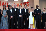 James Caan, Zoe Saldana, Billy Crudup, Noah Emmerich, Guillaume Canet, Clive Owen, Marion Cotillard, Jamie Hector and Lily Taylor attend the Premiere of 'Blood Ties' during the 66th Annual Cannes Film Festival at the Palais des Festivals in Cannes.