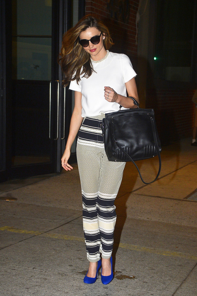 Miranda Kerr seen leaving MILK studios after having a photoshoot in New York City.