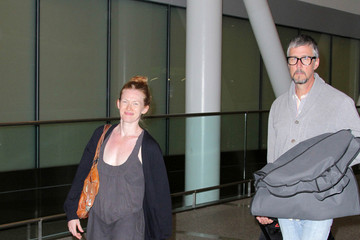 Mireille Enos Mireille Enos and Husband at the Airport