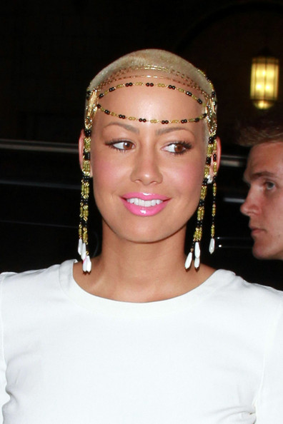 pics of amber rose with hair. 2011 amber rose long hair