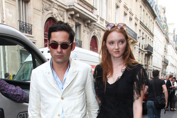 Enrique Murciano Lily Cole and Enrique Murciano at a Dior Fashion Show