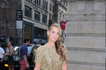 Molly Simms Celebs Leave the Marchesa Fashion Show in NYC