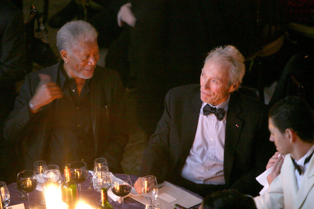 Morgan Freeman and Clint Eastwood at MOMI for a tribute to ...