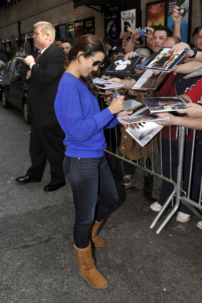 "NCIS"" star Cote de Pablo looks to be enjoying all the attention as"