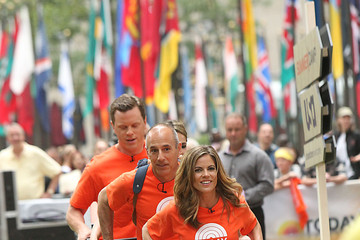 Natalie Morales Matt Lauer 'Today' Hosts Compete in an Obstacle Course
