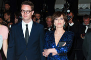 Kristin Scott Thomas and Nicolas Winding attend the 'Only God Forgives' Premiere during the 66th Annual Cannes Film Festival at Palais des Festivals in Cannes.