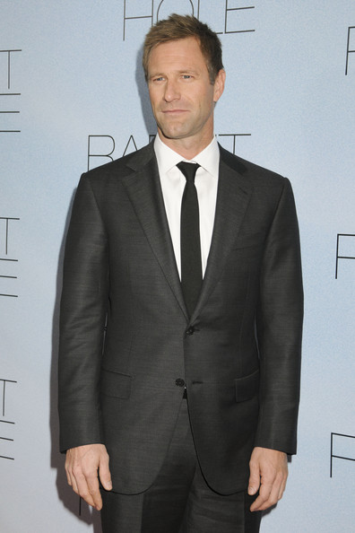 "- Thursday December 2 2010. Aaron Eckhart on the red carpet for the New York premiere of ""Rabbit Hole"" at the Paris Theatre."