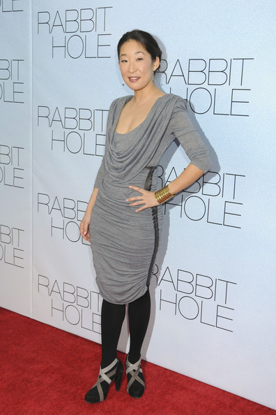 "- Thursday December 2 2010. Sandra Oh on the red carpet for the New York premiere of ""Rabbit Hole"" at the Paris Theatre."