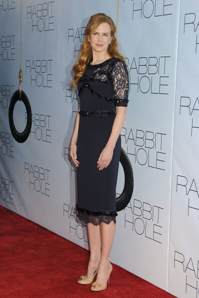 "- Thursday December 2 2010.  Nicole Kidman on the red carpet for the New York premiere of her latest film, ""Rabbit Hole"" at the Paris Theatre."