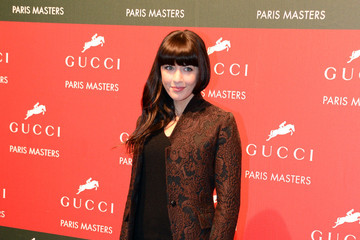Nolwen Leroy Celebs at the Gucci Show Jumping Event in Paris