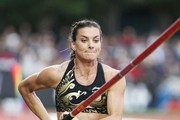 Olympic champion Yelena Isinbayeva of Russia wins the pole-vault event at the International track-and-field meeting, held at the Stade Jean Adret in Sotteville-les-Rouen in Normandy.
