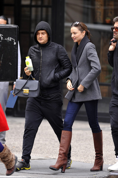 Orlando Bloom Miranda Kerr, Victoria's Secret supermodel, seen out and about in New York City with husband, actor Orlando Bloom, and son Flynn. Kerr has revealed that she is curvier than ever after having her first child with husband Orlando Bloom, and has learned to embrace her new figure.