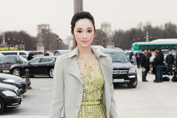 Pace Wu Arrivals at the Elie Saab Fashion Show
