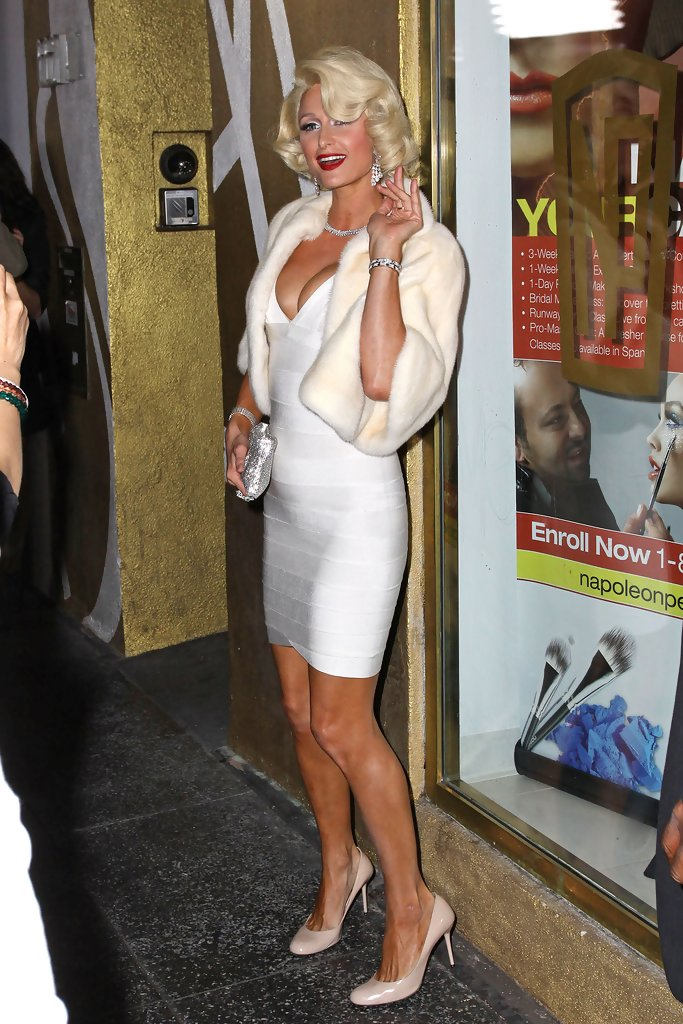 Paris hilton photos photos paris hilton channels her inner marilyn monroe a - Hotel maryline monroe paris ...