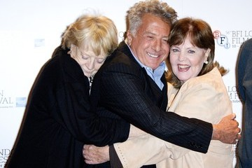 Pauline Collins Dustin Hoffman, Sheridan Smith, Dame Maggie Smith, Billy Connolly, Pauline Collins and Tom Courtney seen attending the photocall for new film 'Quartet' held at the the BFI London Film Festival, Empire Cinema London