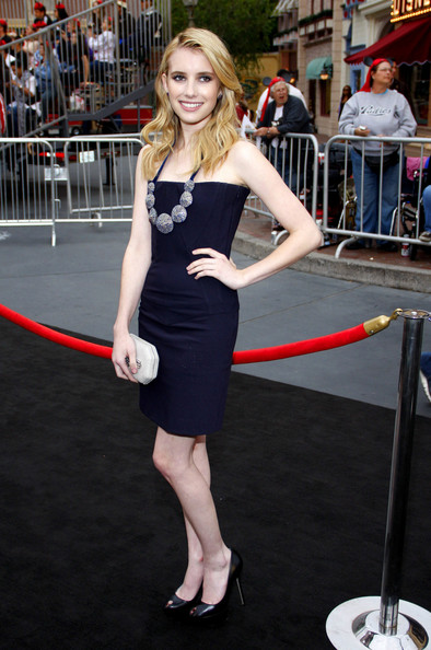 "Actress Emma Roberts at the World premiere of ""Pirates Of The Caribbean: On Stranger Tides"" held at the Disneyland in Anaheim."