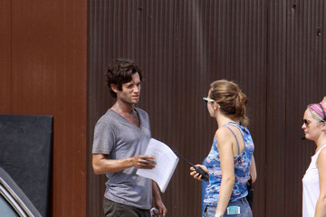 Penn Badgley Scenes from the 'Cymbeline' Set