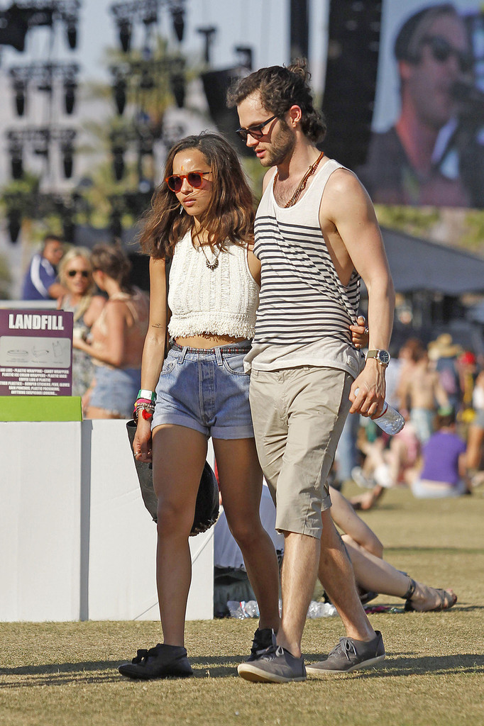 Penn Badgley and Zoe Kravitz at Coachella