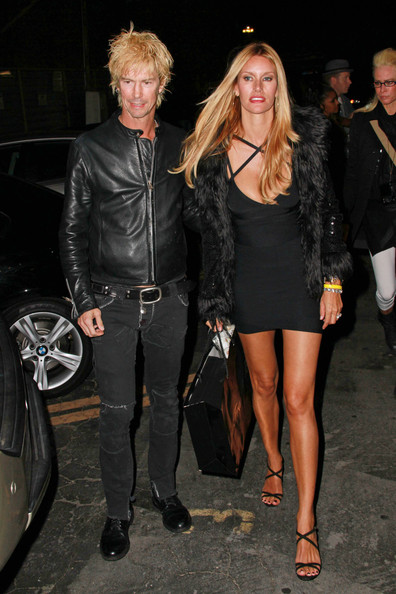 Duff McKagan Pictures Perry Farrell and his Wife Leave Bardot Lounge -