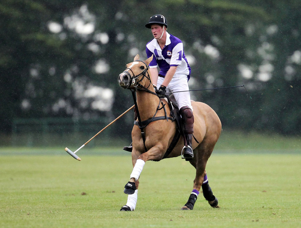 prince harry in prince harry at a charity polo match zimbio. Black Bedroom Furniture Sets. Home Design Ideas