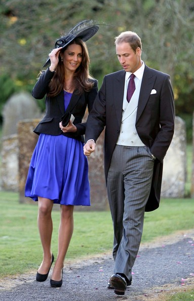 Prince William and Kate Middleton at a Friend's Wedding