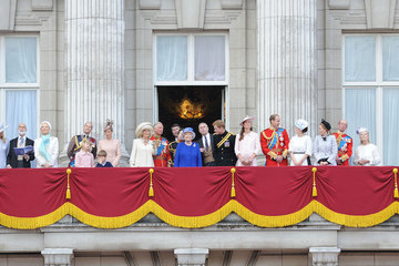 Queen Elizabeth II Princess Beatrice British Royals Attend the Trooping the Colour Ceremony — Part 3