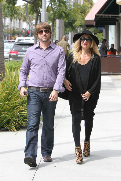 Rachel Zoe A pregnant Rachel Zoe goes to lunch with her husband Rodger Berman at Jack and Jill's in Los Angeles. Despite being 38 weeks pregnant, the fashion stylist wore 6 inch heels while out and about.
