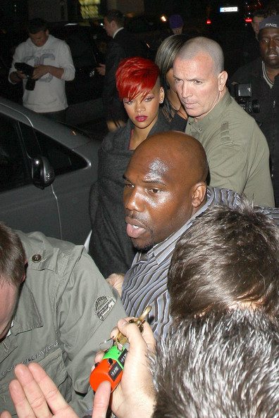 rihanna pictures red hair. Rihanna, sporting fiery red