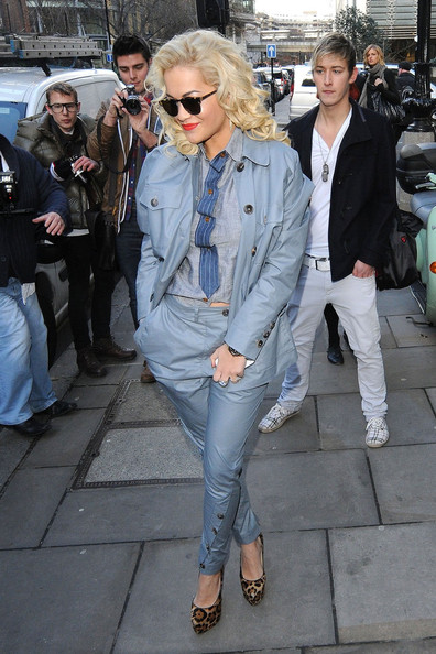 Rita Ora Rita Ora is seen leaving the Vivienne Westwood Autumn Winter 2012 collection fashion show during London Fashion Week.