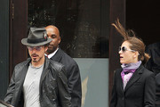 "Robert Downey Jr., star of ""Iron Man 2"", and wife Susan Levin leave their New York City hotel and hop into a waiting car. Robert Downey Jr. is currently promoting his new film ""Iron Man 2"" which will be released in the US May 7th."