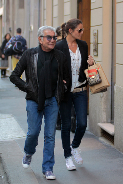 98759c310 Roberto Cavalli Photos Photos - Roberto Cavalli Out with His ...