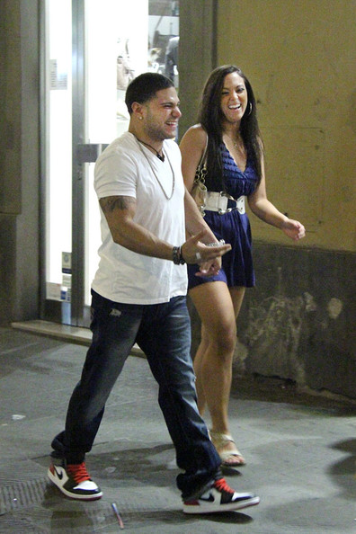 Sammi Giancola and Ronnie Ortiz-Magro in Florence