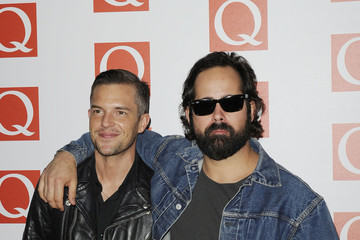 Ronnie Vannucci Brandon Flowers The Maccabees  on the red carpet for the Q Awards at the Grosvenor House Hotel in London