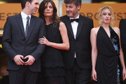 """Chiara Mastroianni, Christophe Honore and Ludivine Sagnier on the red carpet for the screening of """"Les Biens-Aimes"""" at the closing ceremony of 64th Cannes Film Festival."""