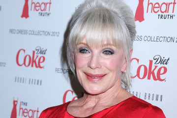 Linda Evans Celebs at the Heart Truth's Red Dress Fashion Show